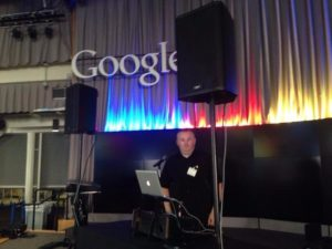 DJ at Google hq Monutain View